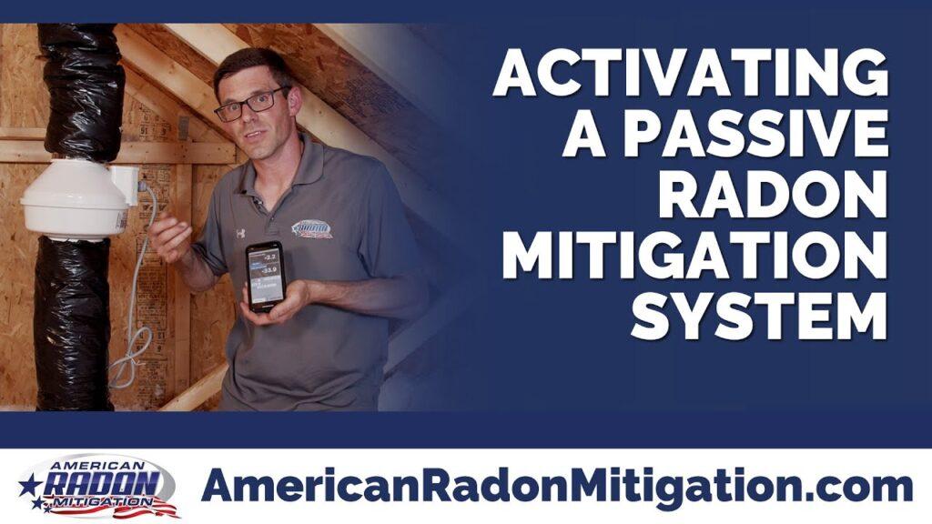Activating a Passive Radon Mitigation System