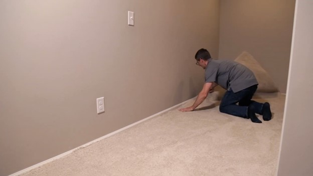 Plug test holes, re-stretch carpet and leave home better than you found it