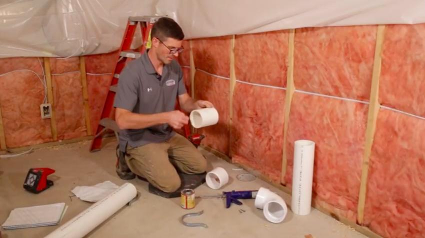 Radon mitigation PVC pipe glue
