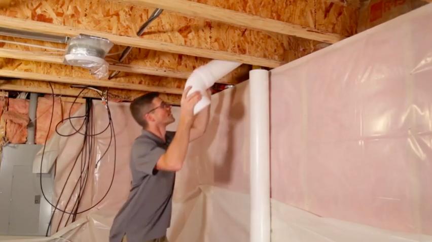 Radon mitigation vent pipe elbow