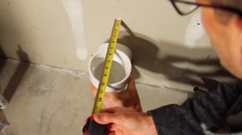 Radon mitigation garage vent pipe