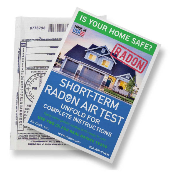 Air Chek radon test kit