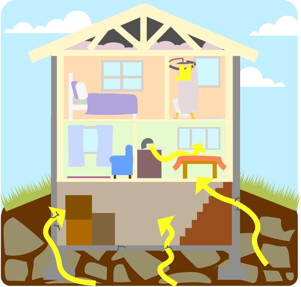 How do I become exposed to radon?